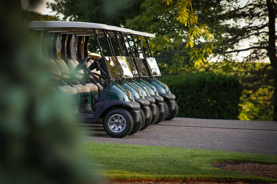 Buy a home on the golf course and ride a golf cart